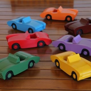 Finished Wooden Toy Cars