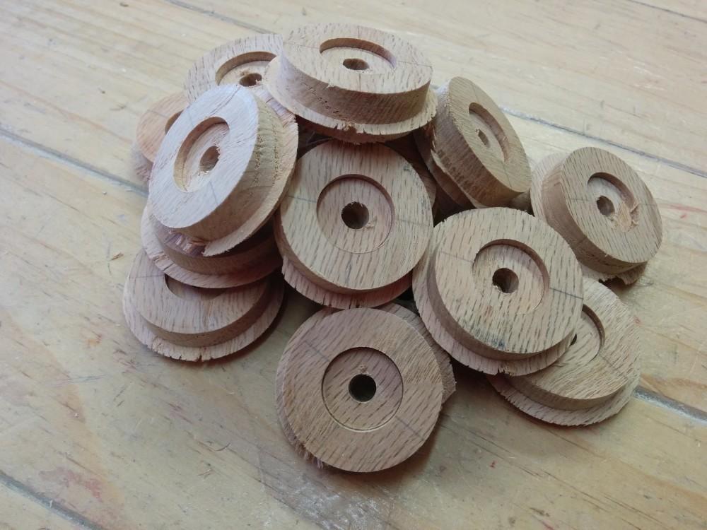 Rough wooden wheels