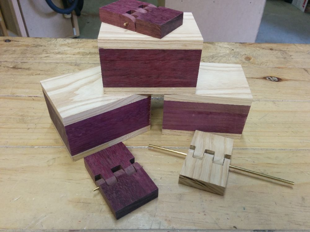 The boxes have been cut to length and the hinges made.
