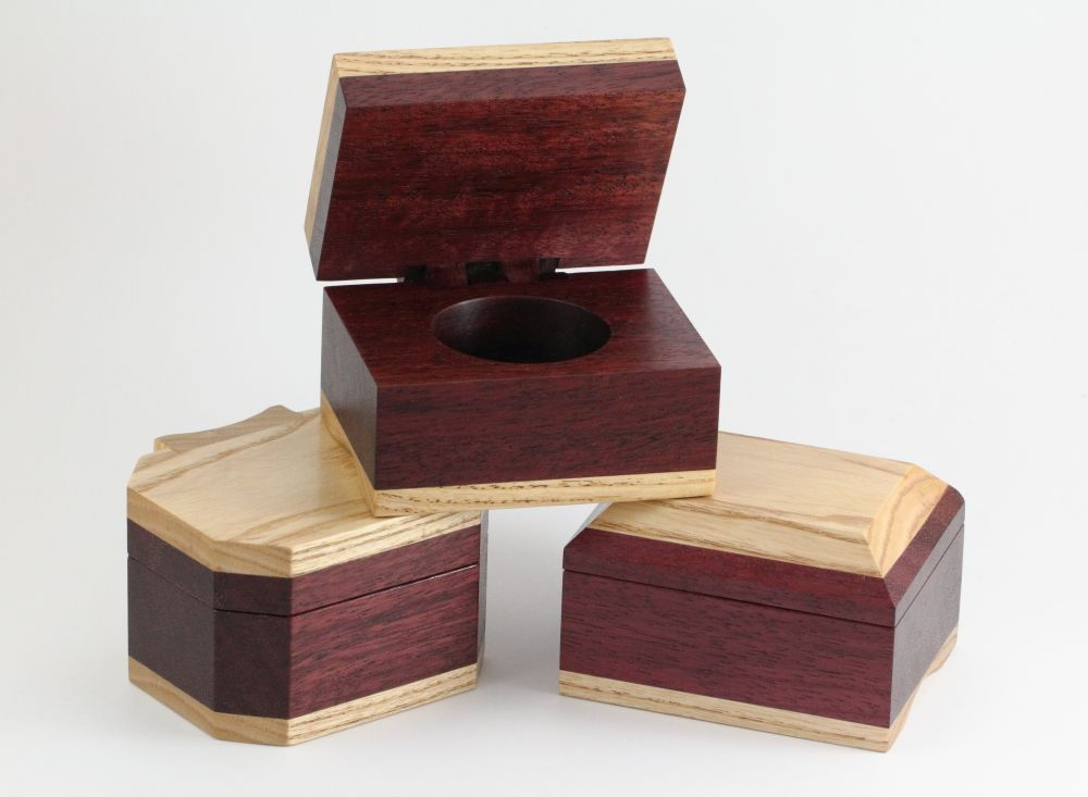 All three finished ring boxes.