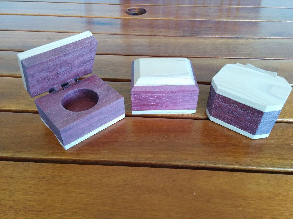 The ring boxes ready for finishing.