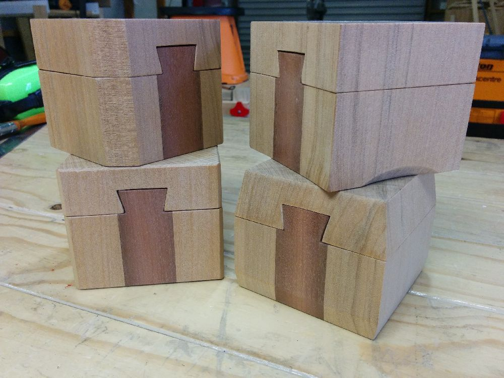 Sanded Kauri ring boxes