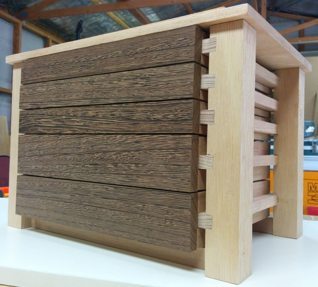 Drawer faces attached