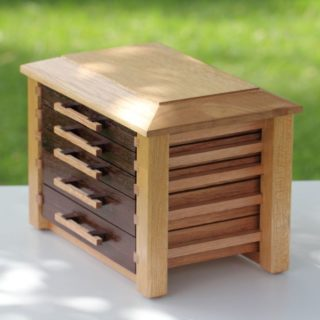 Jewellery Box with five drawers
