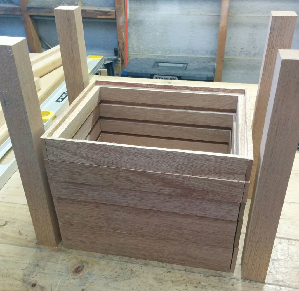Legs and drawer parts