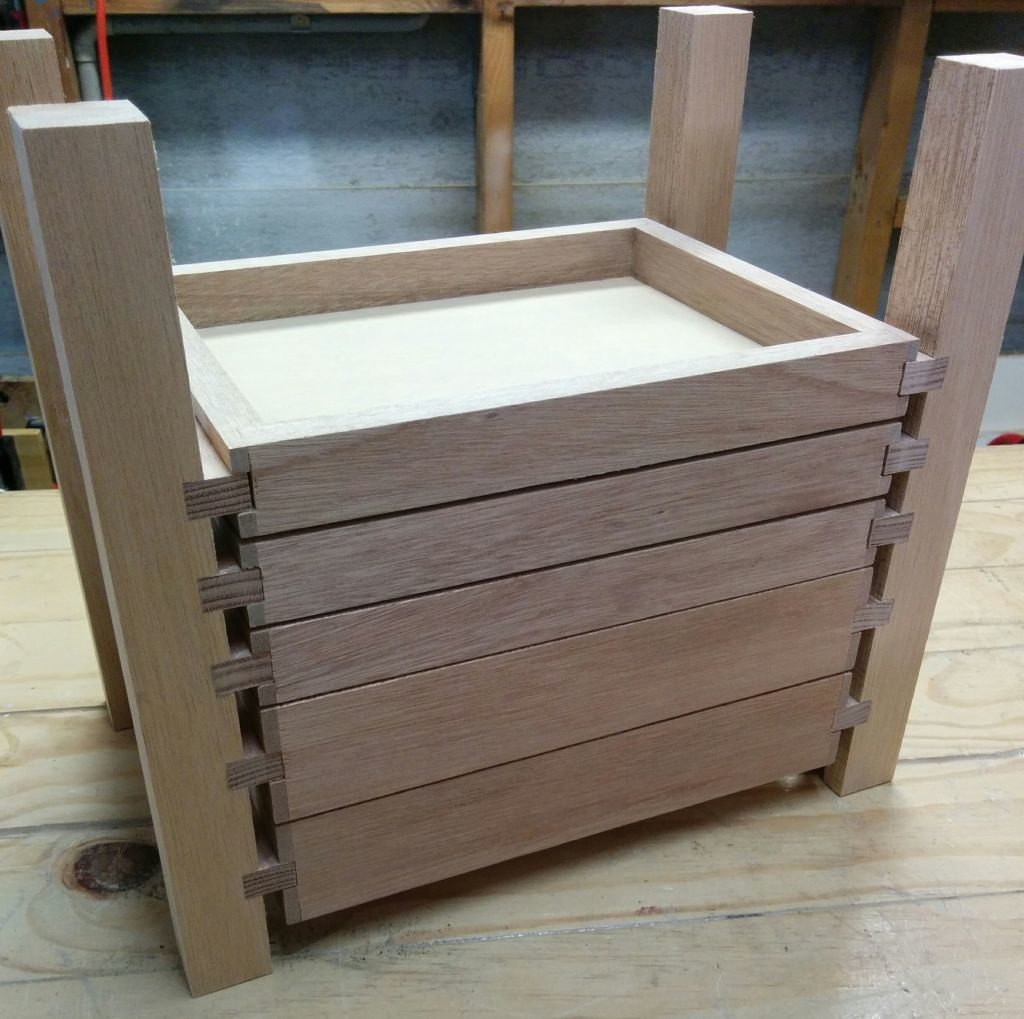 Drawer runners glued in