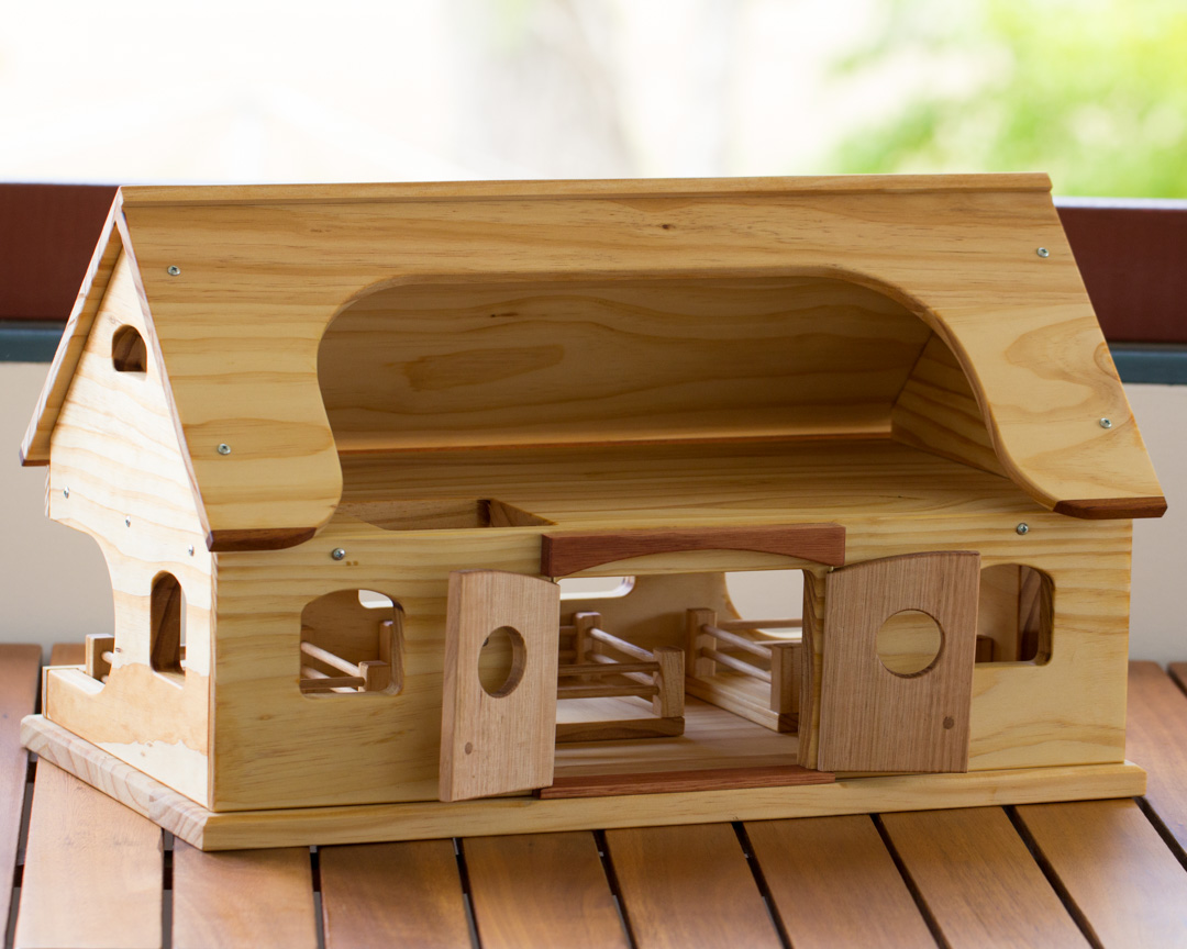 Wooden Toy Farmhouse The Warawood Shed