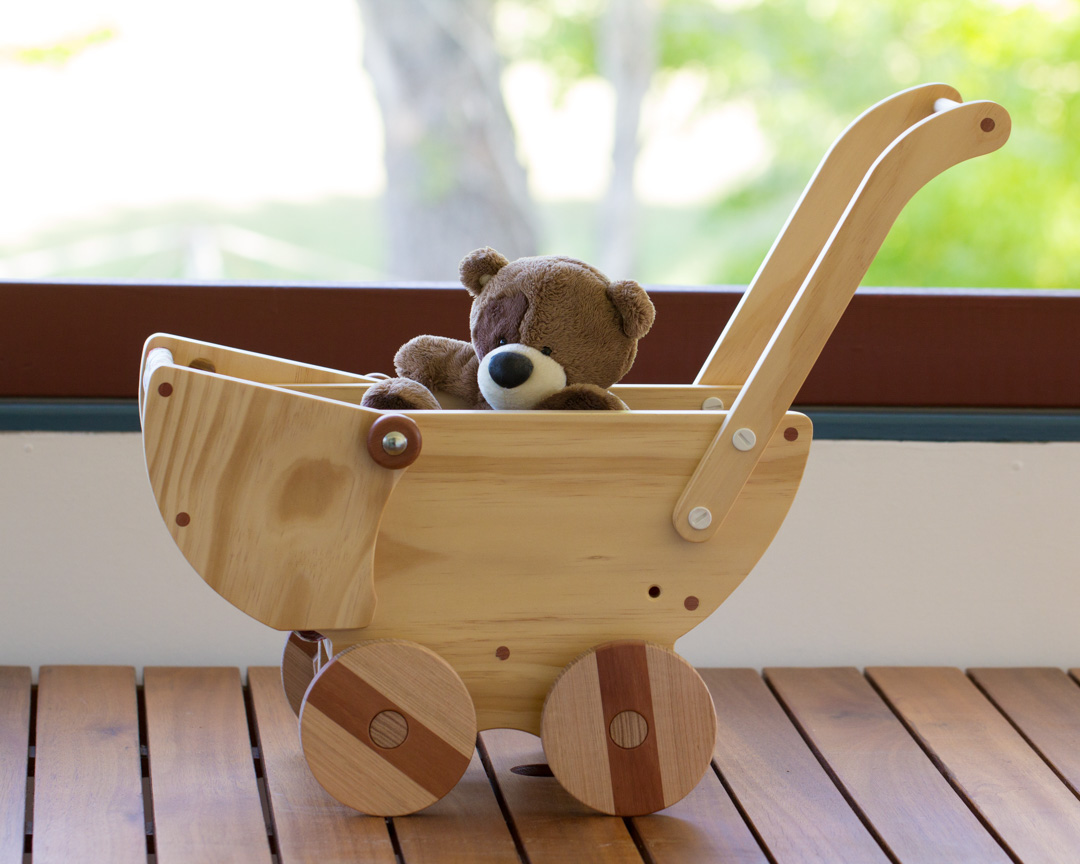 Wooden Toy Pram – The Warawood Shed