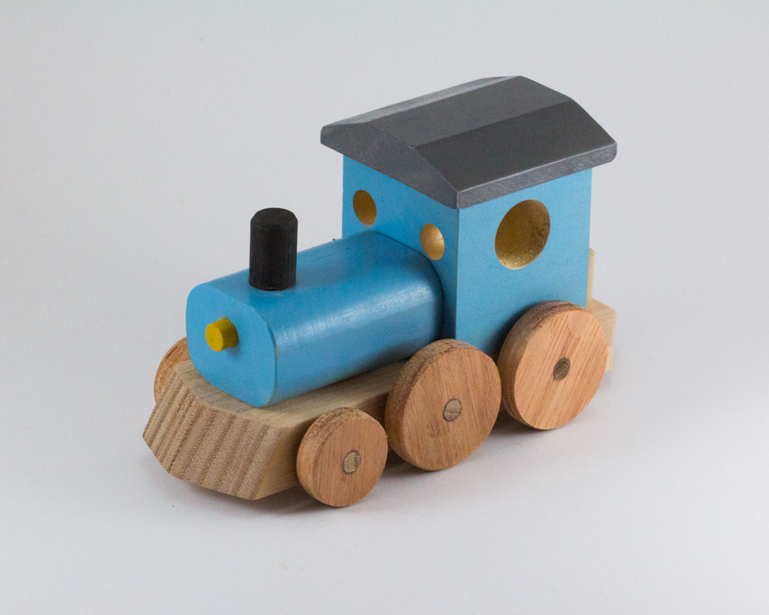 Colourful Wooden Toy Trains – The Warawood Shed