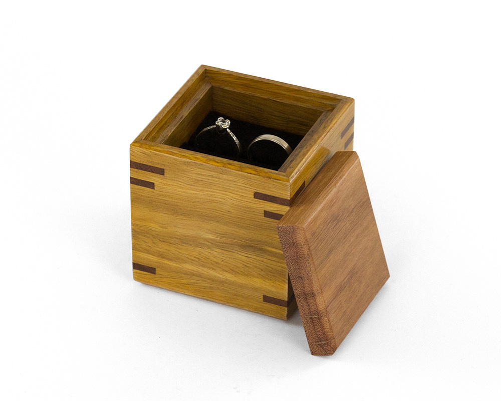 Proposal ring box the warawood shed for Wooden ring box