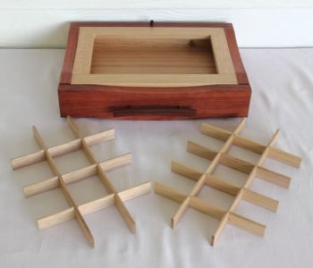 Expandable Jewellery Box Drawer Unit with Dividers (Jarrah)